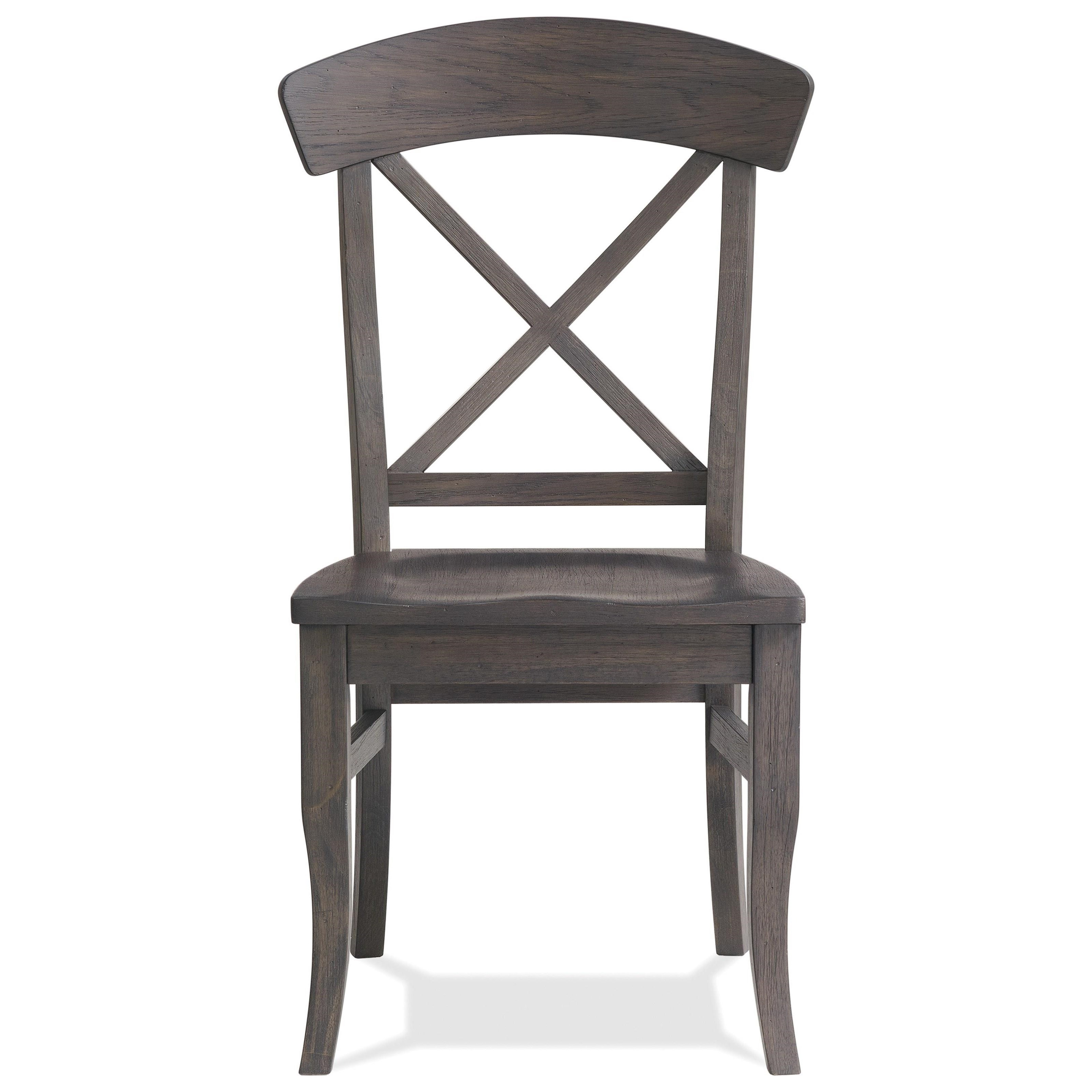 Harper X-back Side Chair by Riverside Furniture at Zak's Home