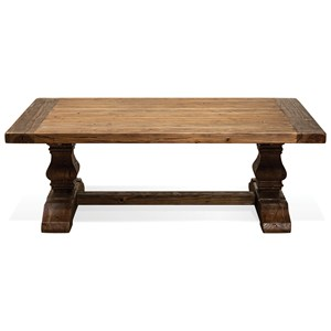 Coffee Table with Traditionally Turned Trestle Base