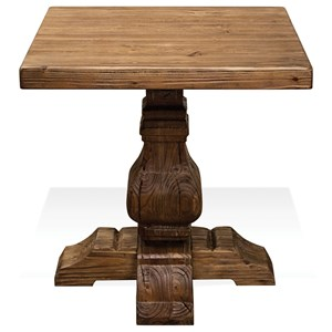 Side Table with Traditionally Turned Cross Base
