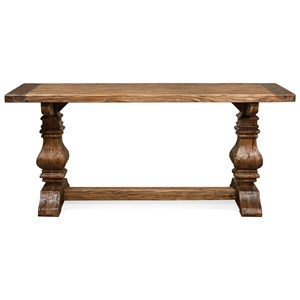 Console Table with Traditionally Turned Trestle Base