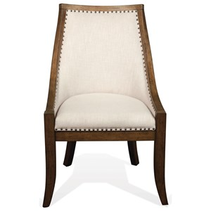 Upholstered Hostess Chair with Nailhead Trim