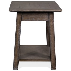 Rustic End Table with Shelf