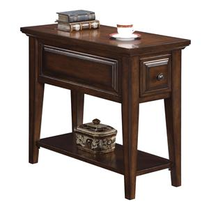 Riverside Furniture Hilborne 1 Drawer Chairside Table