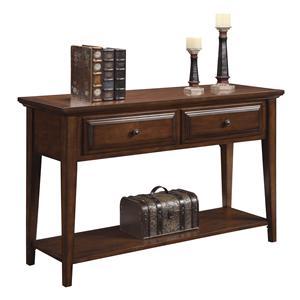 Riverside Furniture Hilborne 2 Drawer Sofa Table