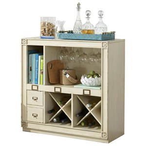 Bar Console with Wine and Bottle Storage