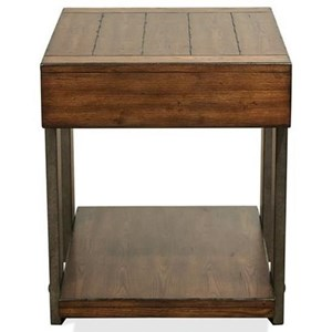 Urban Rustic 1 Drawer End Table