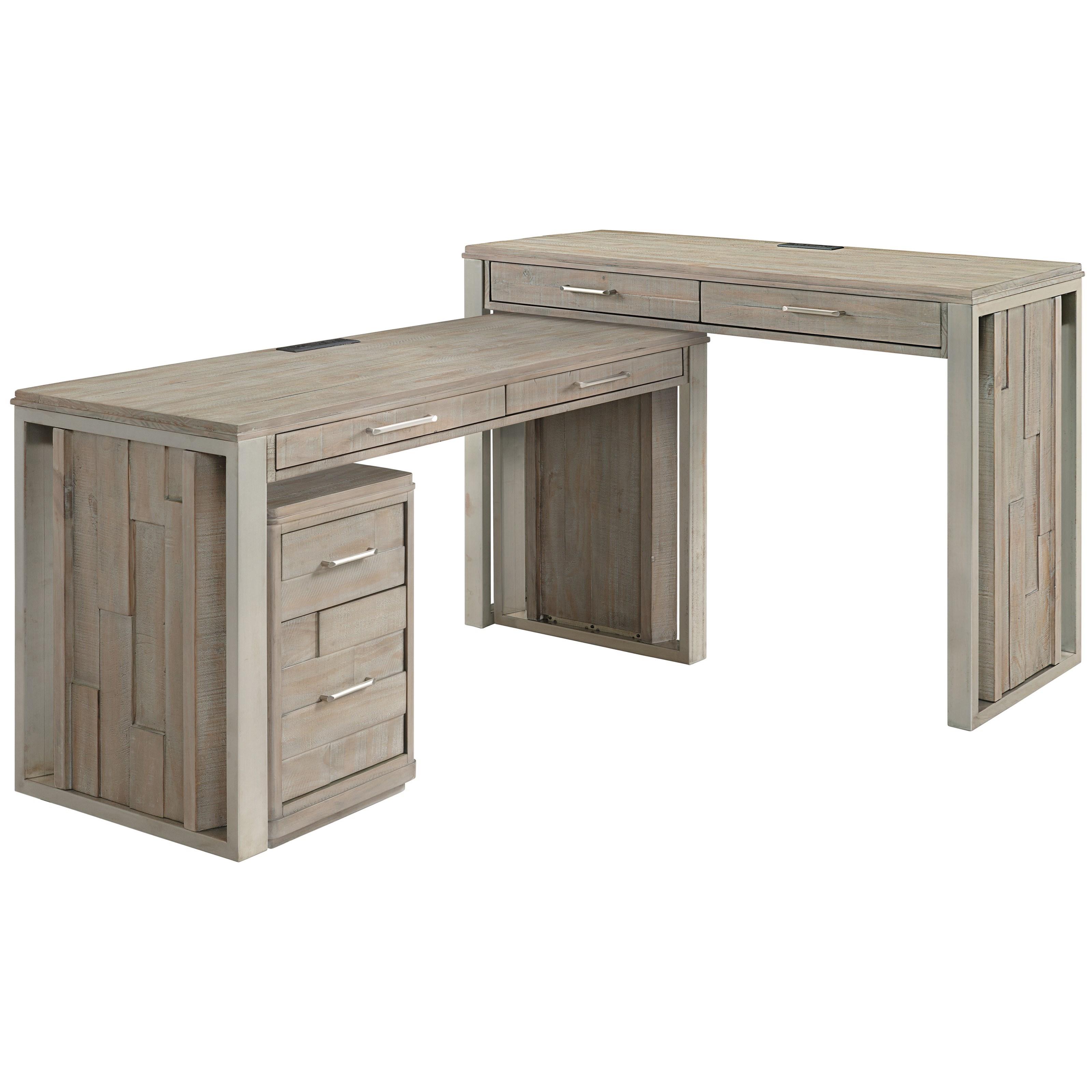 Three-Piece L-Shaped Desk