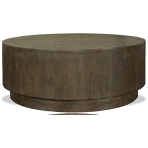 Round Cocktail Table with Removable Casters