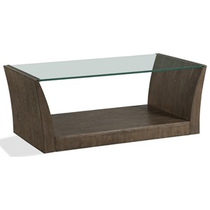 Rectangle Cocktail Table with Glass Top