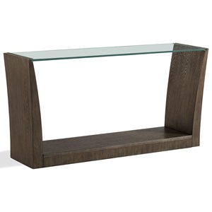 Rectangle Sofa Table with Glass Top