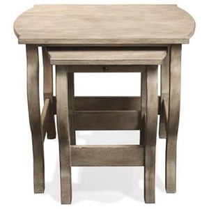 Nesting End Tables in Natural Finish