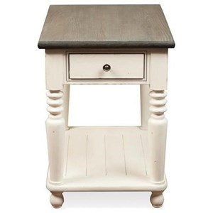 Rectangle 1 Drawer Chairside Table