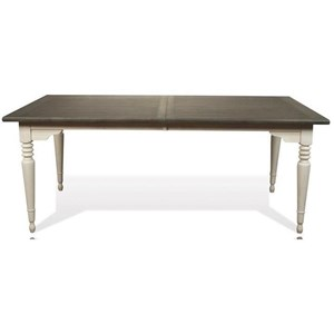 Rectangle Leg Dining Table in Two-Tone Finish
