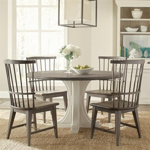 5 Piece Round Table and Windsor Chair Set