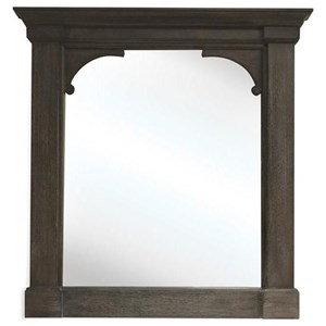 Bracket Mirror in Charcoal Finish