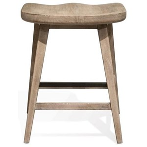 Counter Stool with Saddle-Shape Seat