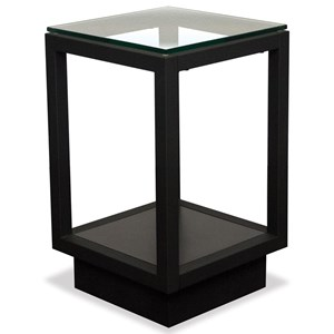 Chairside Table with Glass Top