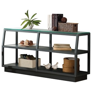 2 Shelf Console Table with Glass Top