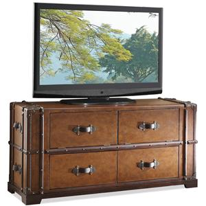 Riverside Furniture Latitudes Steamer Trunk TV Console