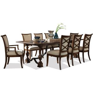 Riverside Furniture Lawrenceville 9 Piece Table & Chair Set