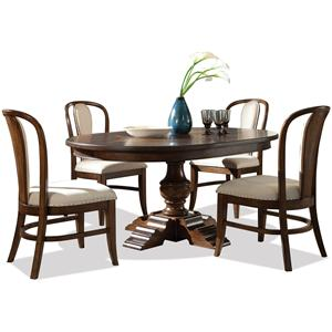 Riverside Furniture Lawrenceville 5 Piece Table & Chair Set