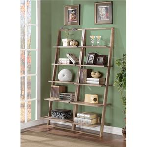 Leaning Bookcase Set