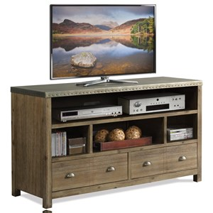 Industrial 54 Inch TV Console with Metal Top