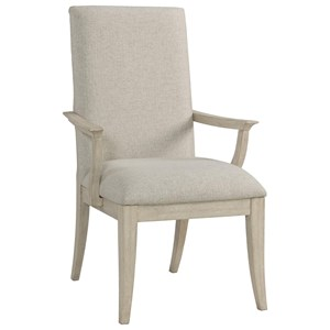 Transitional Upholstered Arm Chair