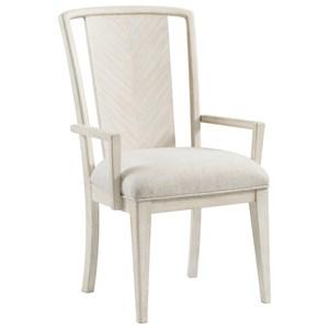 Upholstered Splat-Back Arm Chair