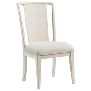 Upholstered Splat-Back Chair
