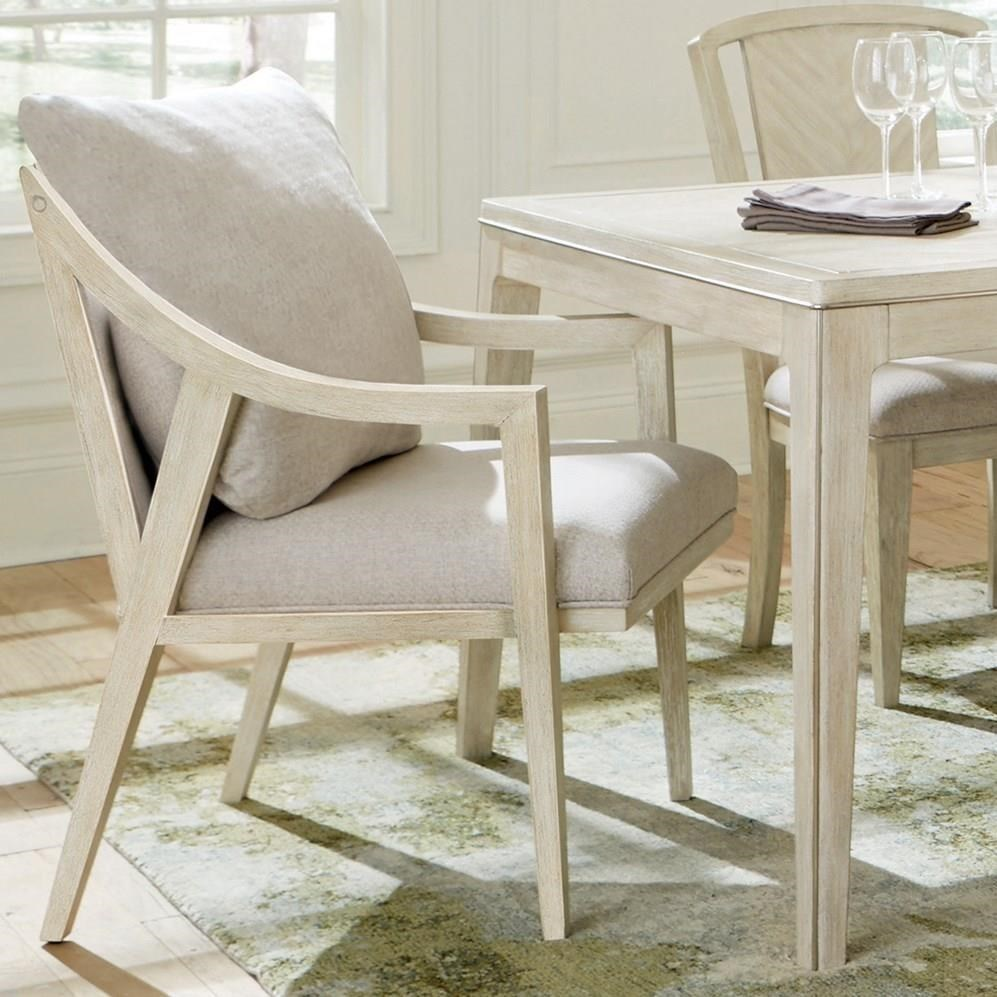 Lilly Upholstered Hostess Chair by Riverside Furniture at Reid's Furniture