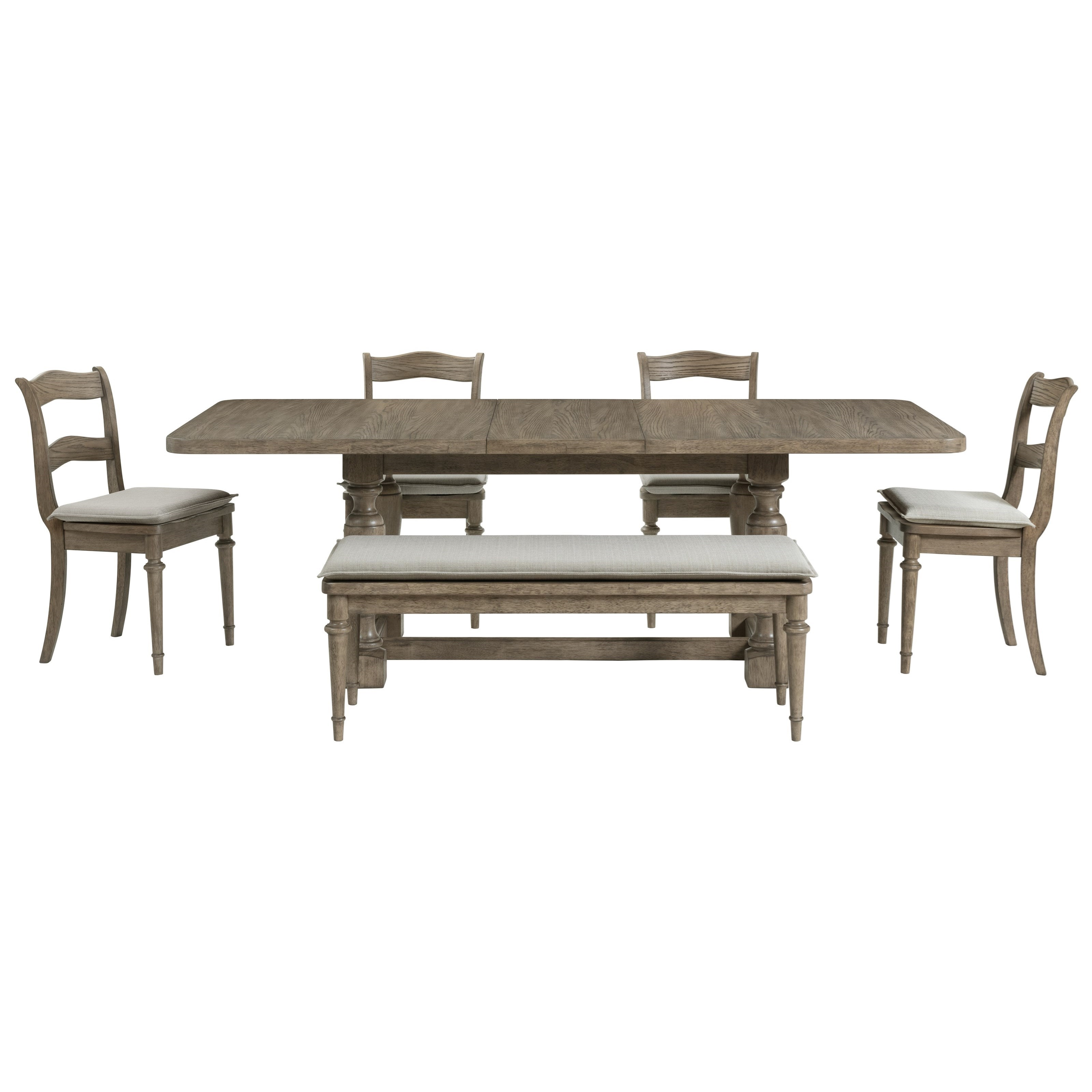 LeTourneau Six-Piece Formal Dining Set with Bench  at Rotmans