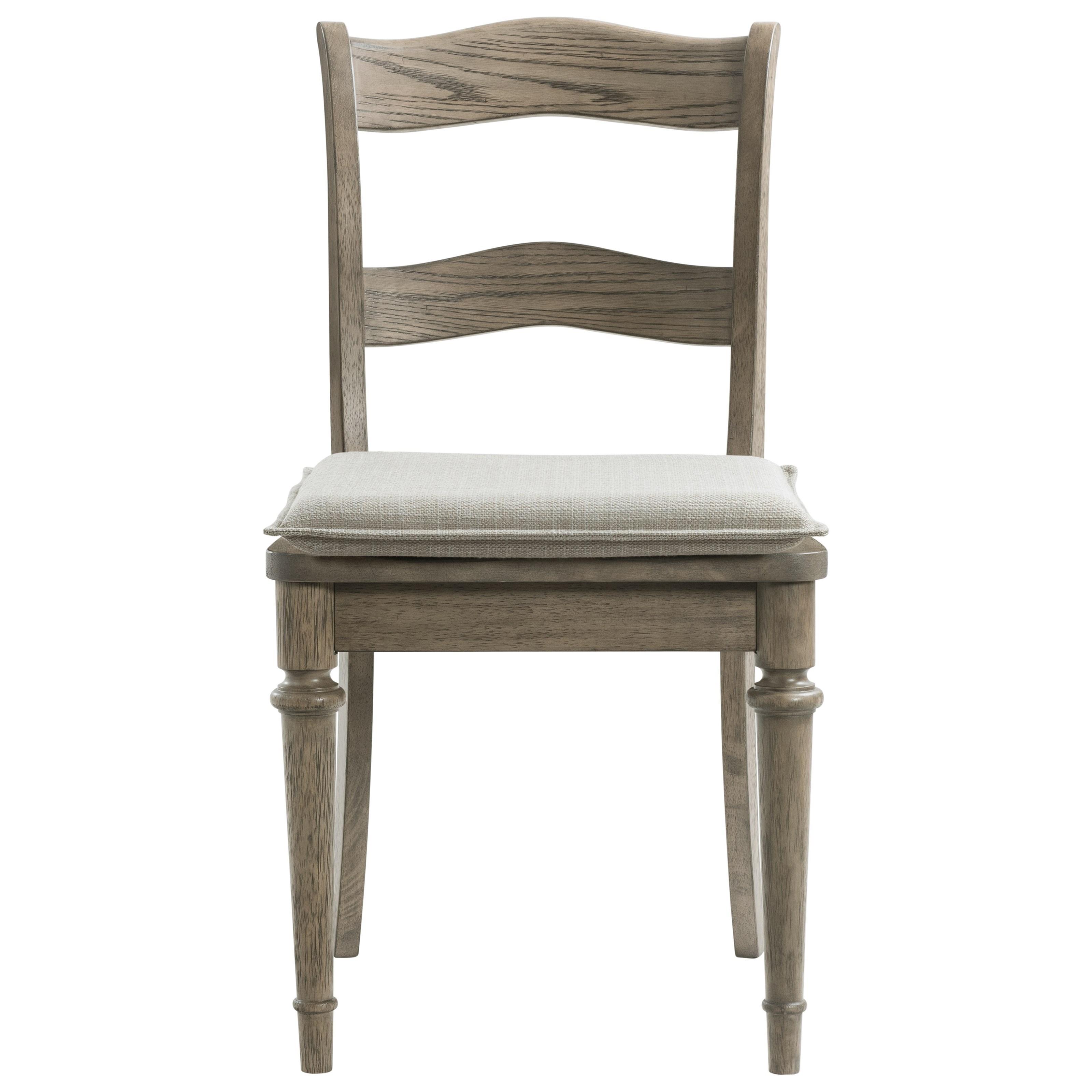 Louis Farmhouse Cushioned Side Chair   by Riverside Furniture at Lucas Furniture & Mattress