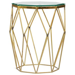 Glamorous Octagon Side Table