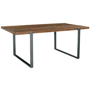 Industrial Dining Table with Reclaimed Wood Top