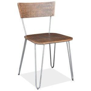 Industrial Side Chair with Hairpin Legs