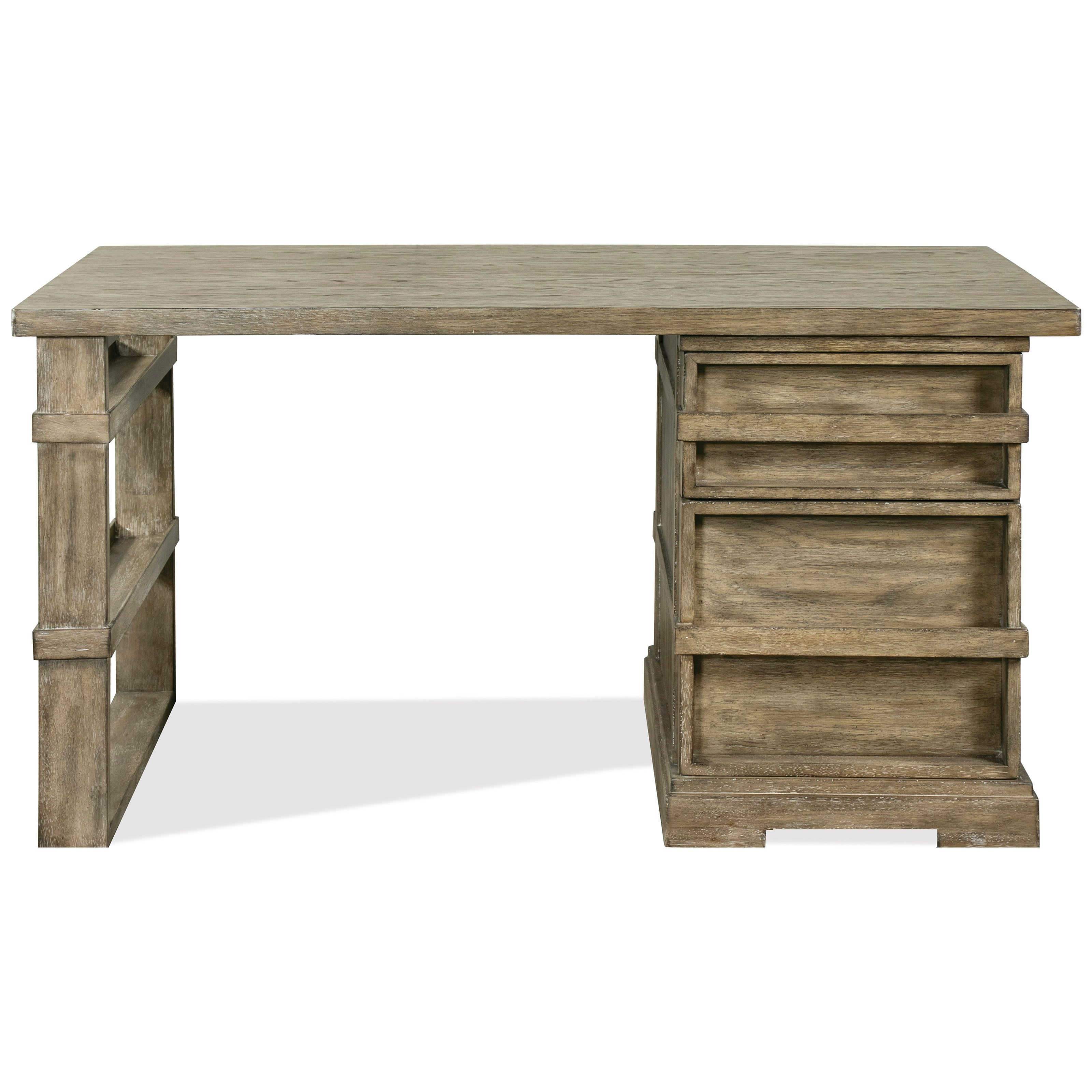 Milton Park Single Pedestal Desk by Riverside Furniture at Zak's Home