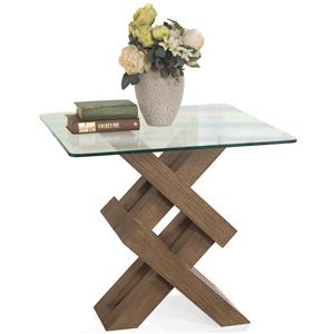 Riverside Furniture Mirabelle Glass Top Side Table