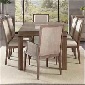 7 Piece Marble Insert Table and Chair Set
