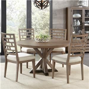 Riverside Furniture Mirabelle 5 Piece Table and Chair Set