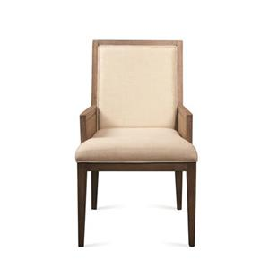 Riverside Furniture Mirabelle Cane Upholstered Dining Arm Chair
