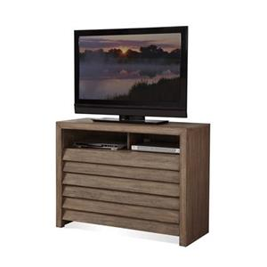Media Chest with Louvered Drawer Fronts
