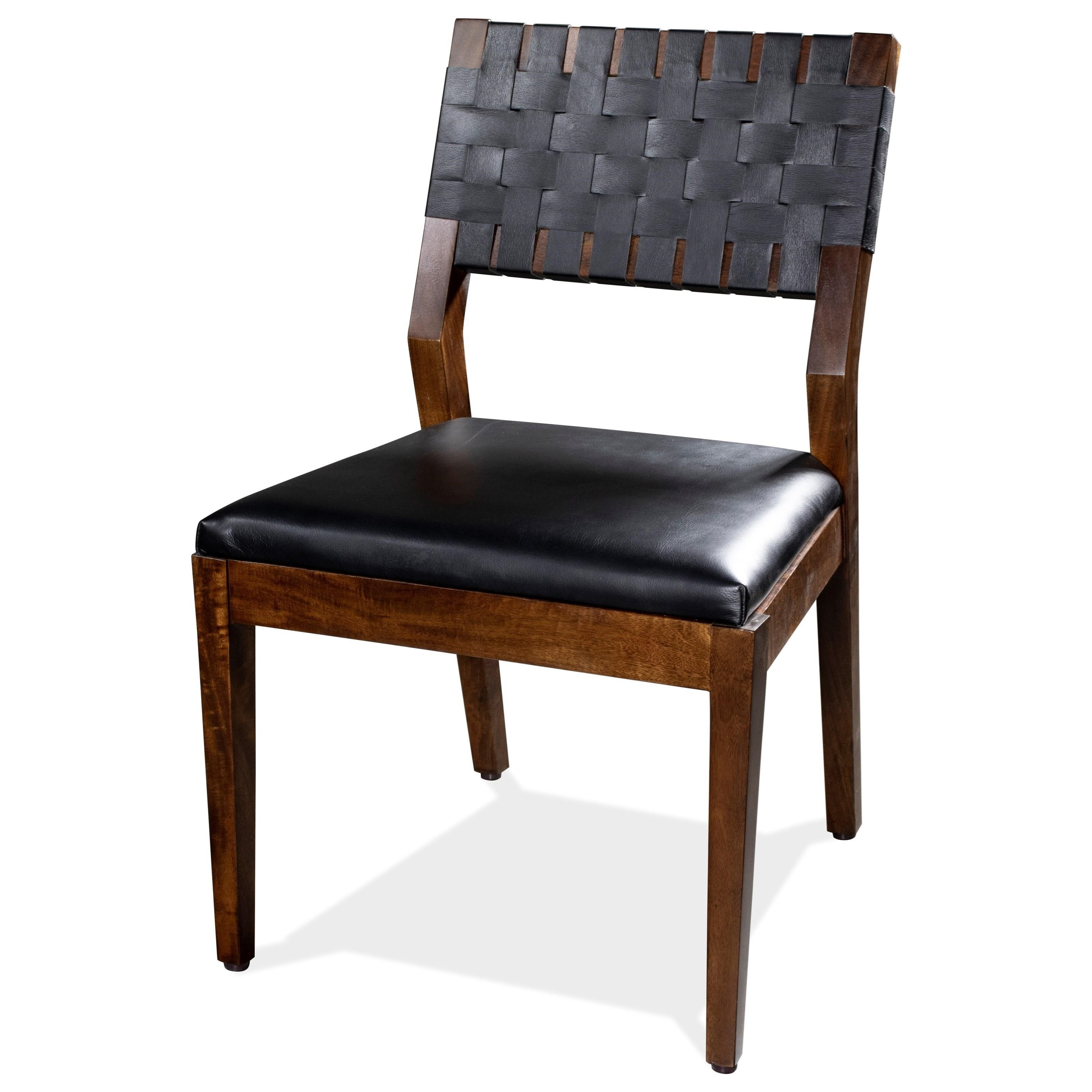 Mix-N-Match Chairs Wvn-Bk Uph Side Chair 2in by Riverside Furniture at Zak's Home