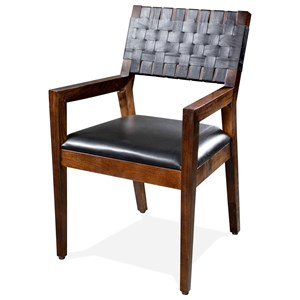 Wvn-Bk Uph Arm Chair 2in