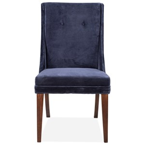 Navy Velvet Sid Chair 2in