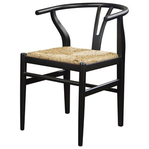 Wishbone Side Chair with Woven Seat