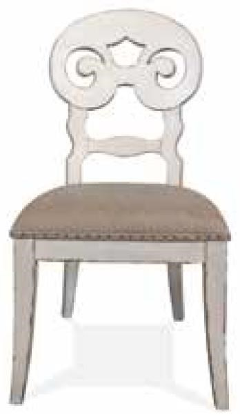 Scroll Upholstered Side Chair
