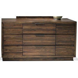 Contemporary Nine Drawer Dresser with Felt and Cedar-Lined Drawers