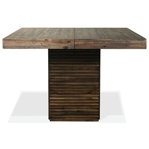 Contemporary Counter Height Table with One Table Extension Leaf