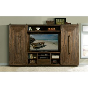 Riverside Furniture Modern Gatherings Entertainment Wall Unit